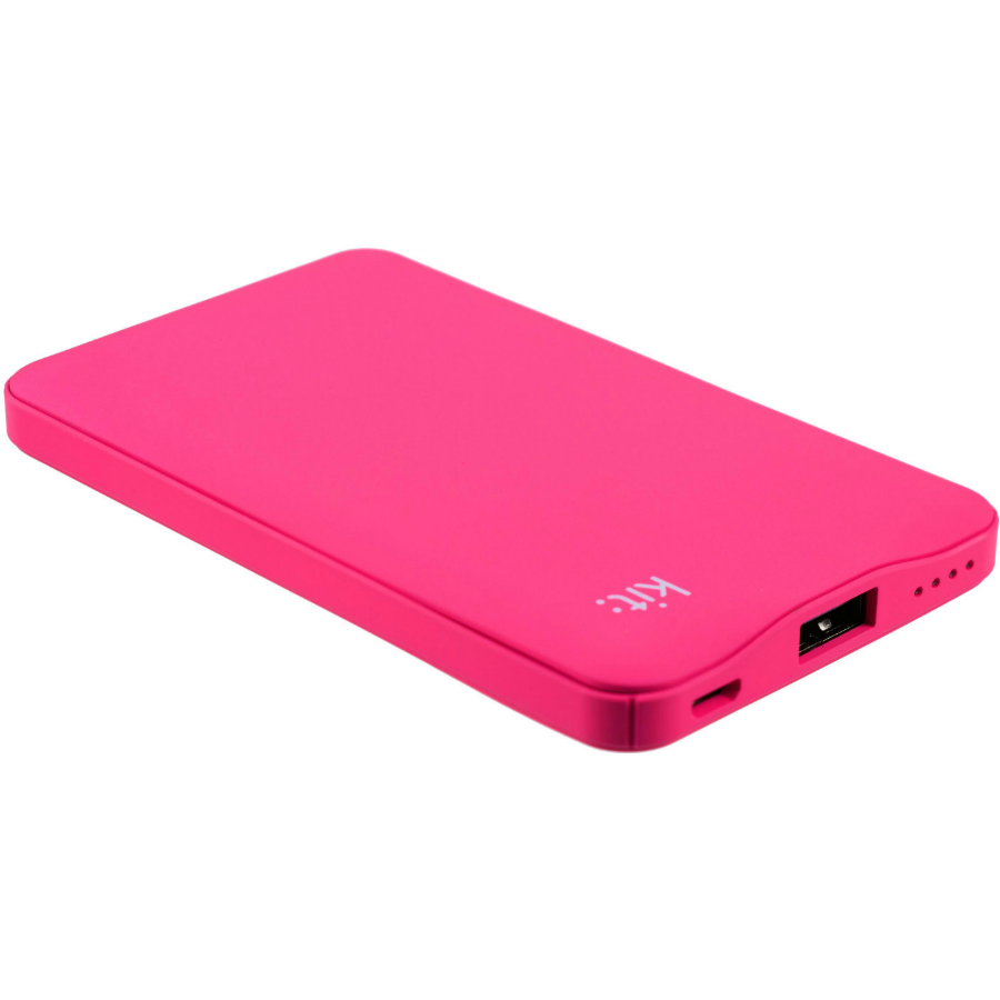 Compare cheap offers & prices of Kit 6000mAh Power Bank - Pink manufactured by Kit