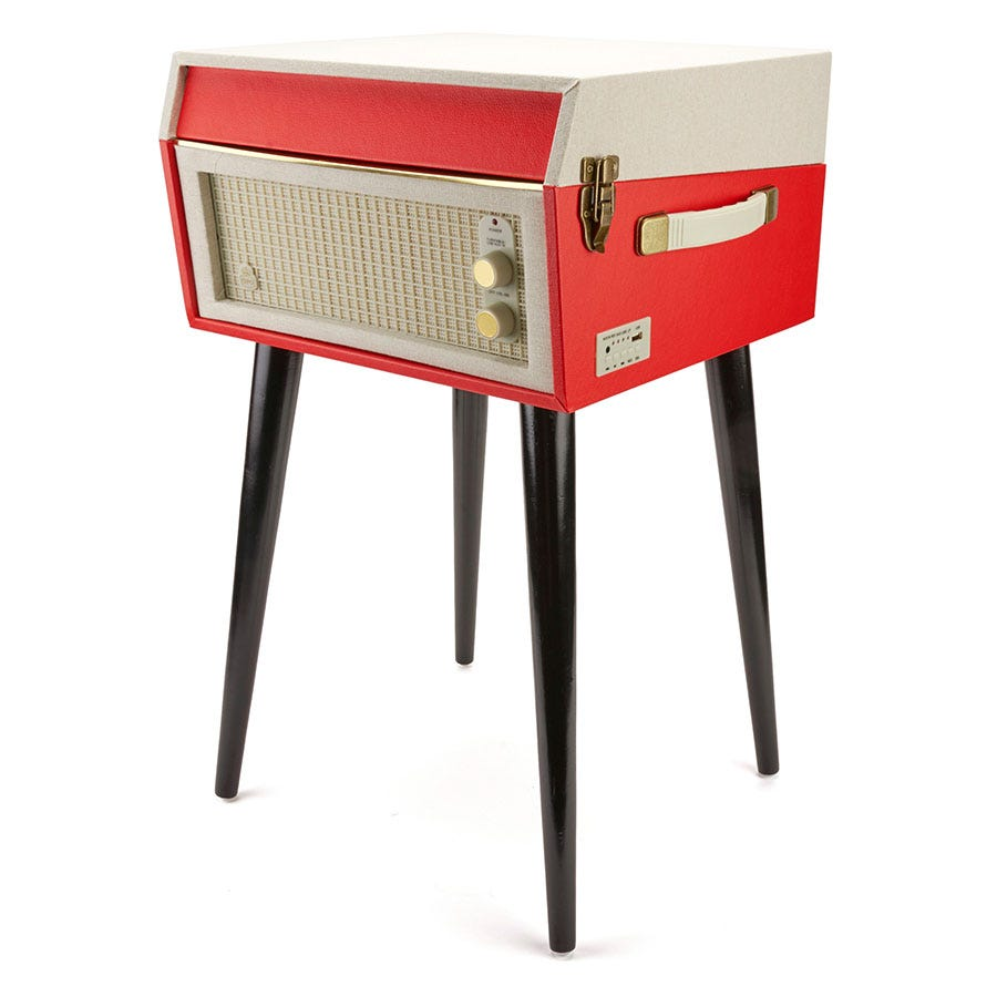 Compare retail prices of GPO Bermuda Classic Retro Style Turntable - Red to get the best deal online