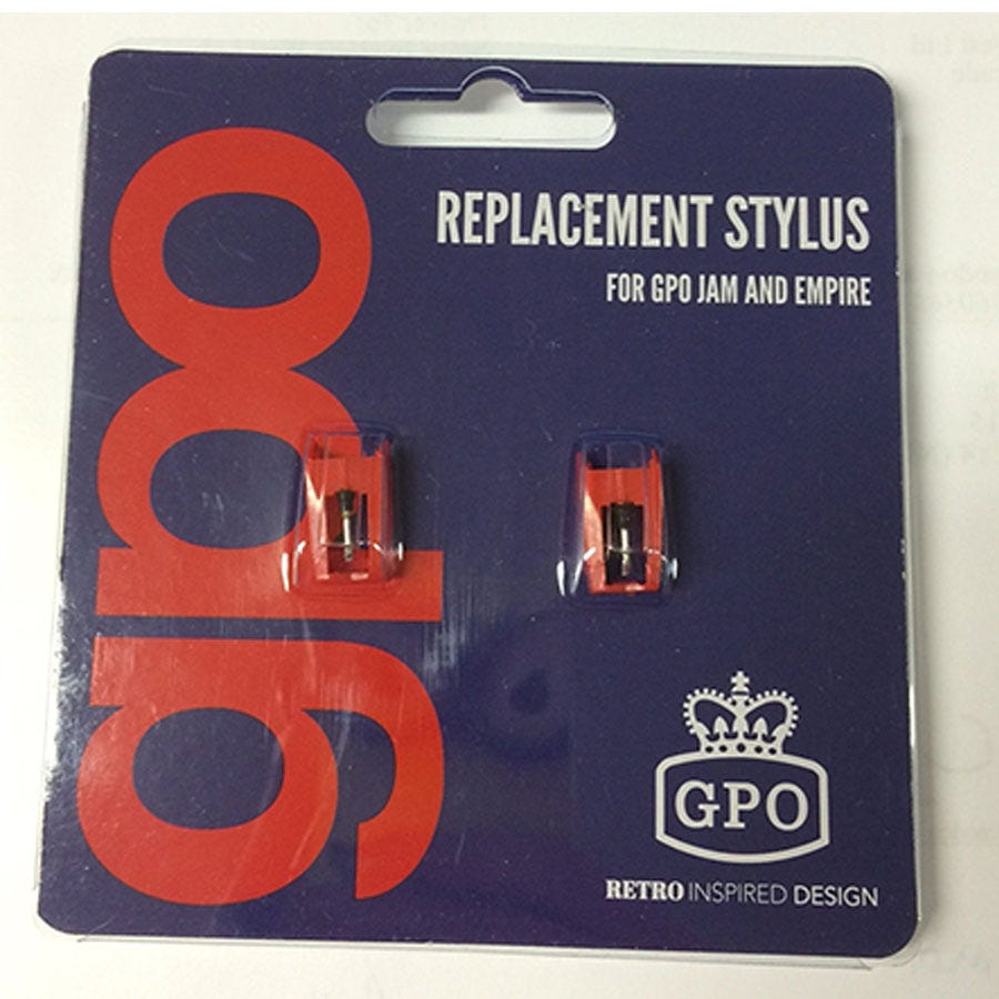 Compare retail prices of GPO Replacement Stylus for Empire and Jam Turntable - Pack of 2 to get the best deal online
