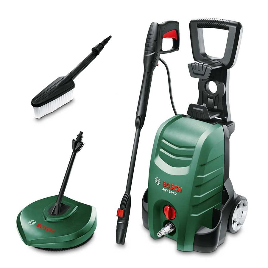 Image of Bosch Aquatak AQT 35-12 High Pressure Washer With Accessories Bundle