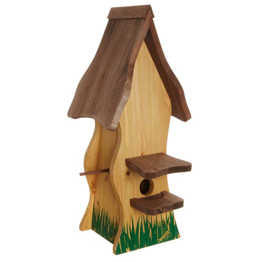Image of VegTrug Tweetie Pad Bird House - Natural Wood