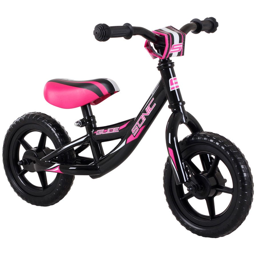 Compare prices for Sonic Glide Girls Balance Bike with 10-Inch Wheels and Pink