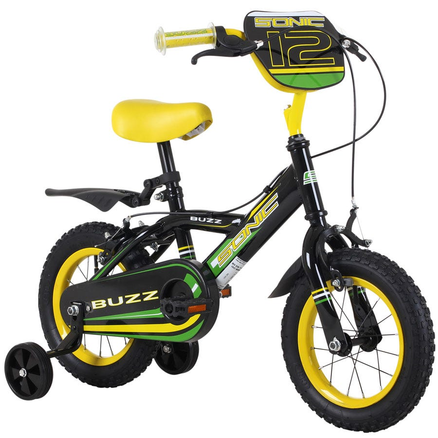 Compare prices for Sonic Buzz 12 Inch Wheel Boys Bicycle Single Speed With Stabilisers And Yellow
