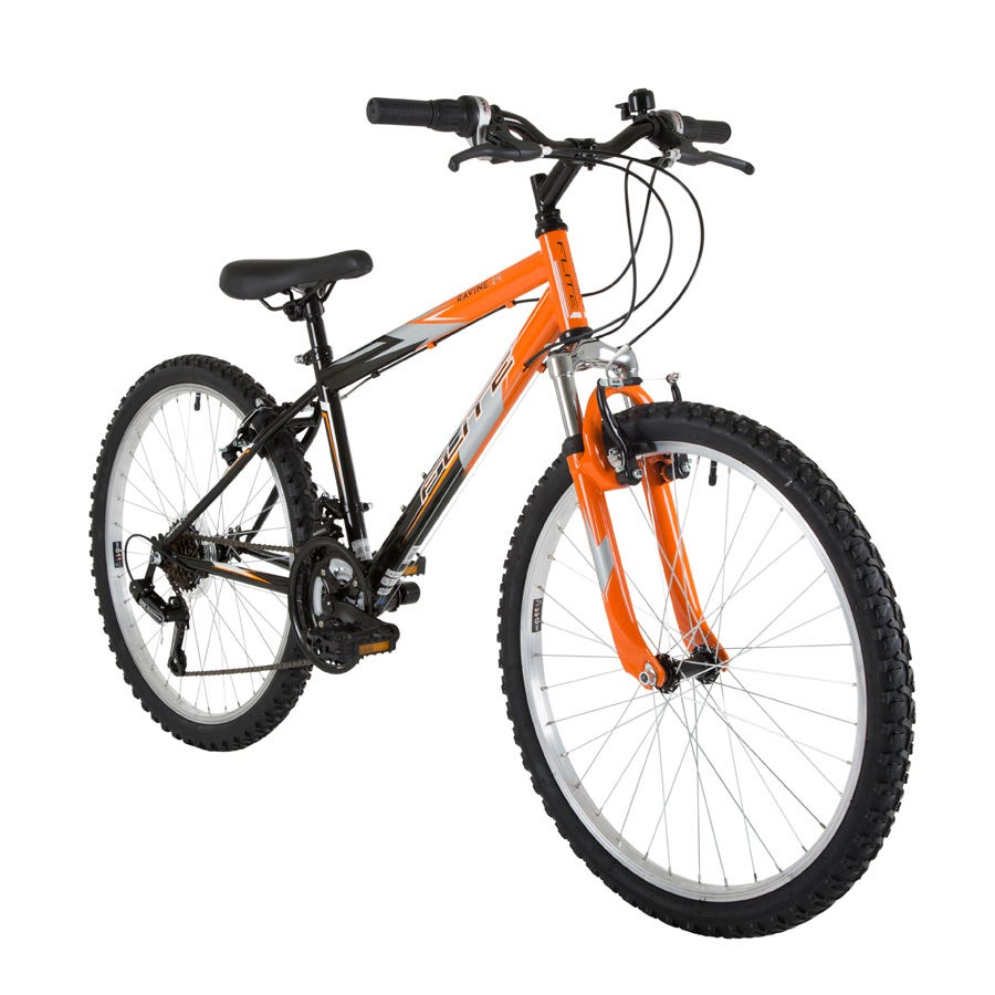 Compare prices for Flite Ravine Boys 24-Inch Wheel Mountain Bike With Front Suspension And Orange