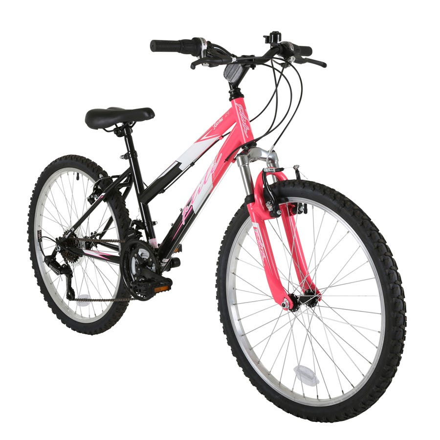 Compare prices for Flite Ravine Girls 24-Inch Wheel Mountain Bike With Front Suspension And Pink