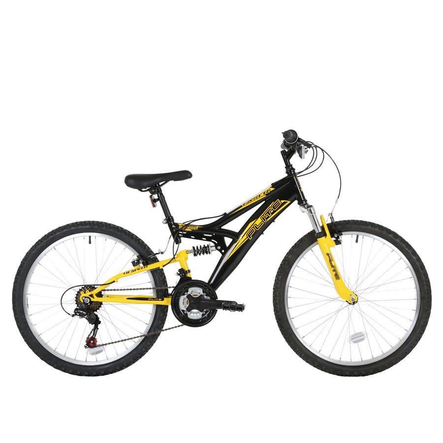 Compare prices for Flite Taser 24-Inch Wheel Full Suspension Boys Junior Mountain Bike And Black