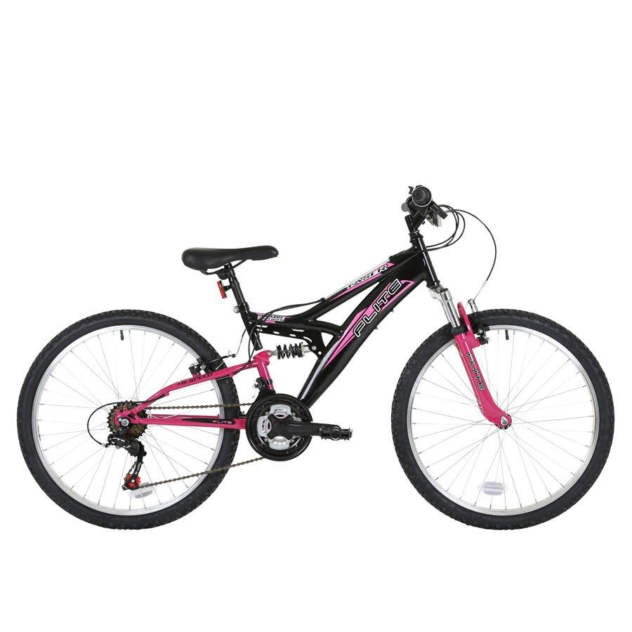 Compare prices for Flite Taser 24-Inch Wheel Full Suspension Girls Junior Mountain Bike And Black