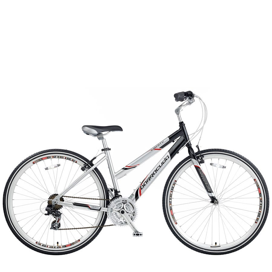 Compare prices for Barracuda Liberty Womens Hybrid Bike 19-Inch - Silver