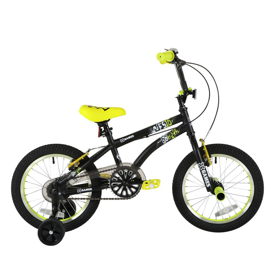 X-Games FS 16 Freestyle BMX Bike - Black And Yellow