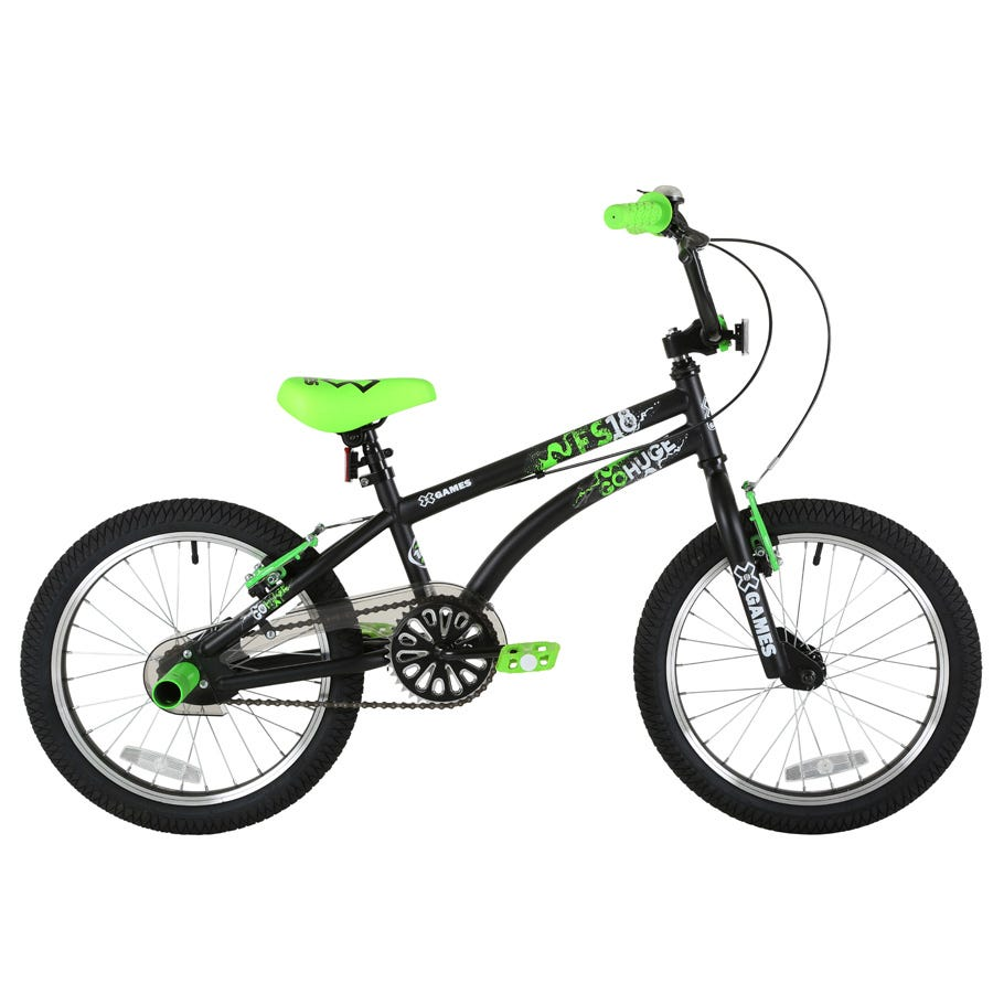 X-Games FS 18 Freestyle BMX Bike - Black And Green
