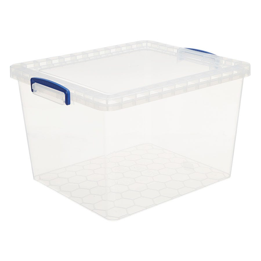 Image of Really Useful 33.5L Nestable Storage Box - Clear