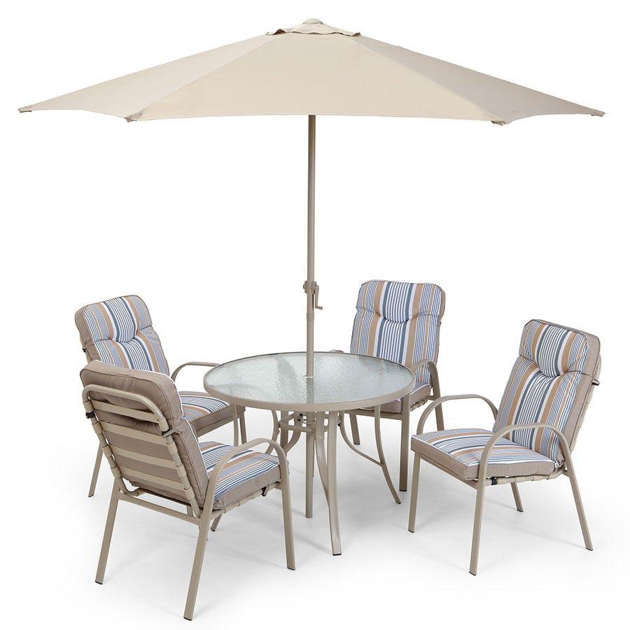 Rimini Garden Furniture Companion Set With Parasol