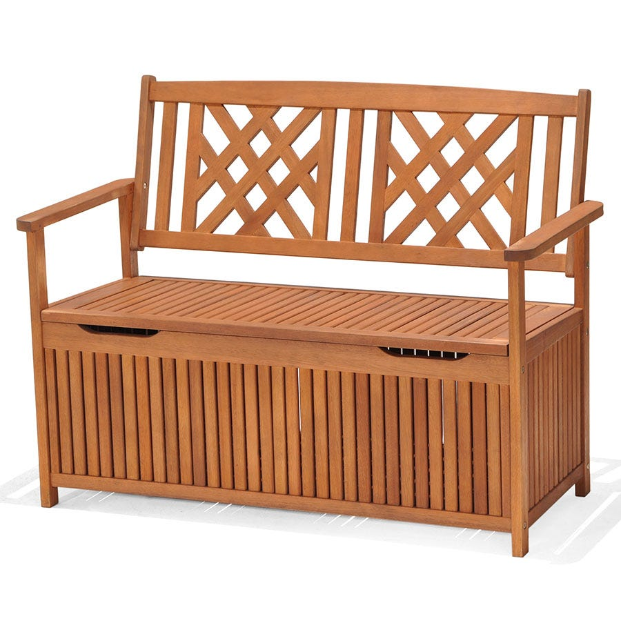 Robert Dyas 2-Seater Garden Fence Bench with Storage