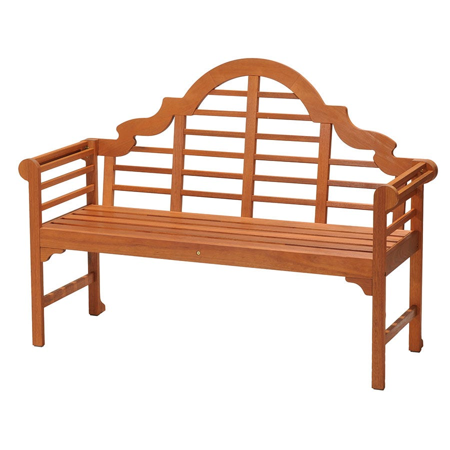 Robert Dyas Murcia 3-Seater Garden Bench - Natural Stained Wood