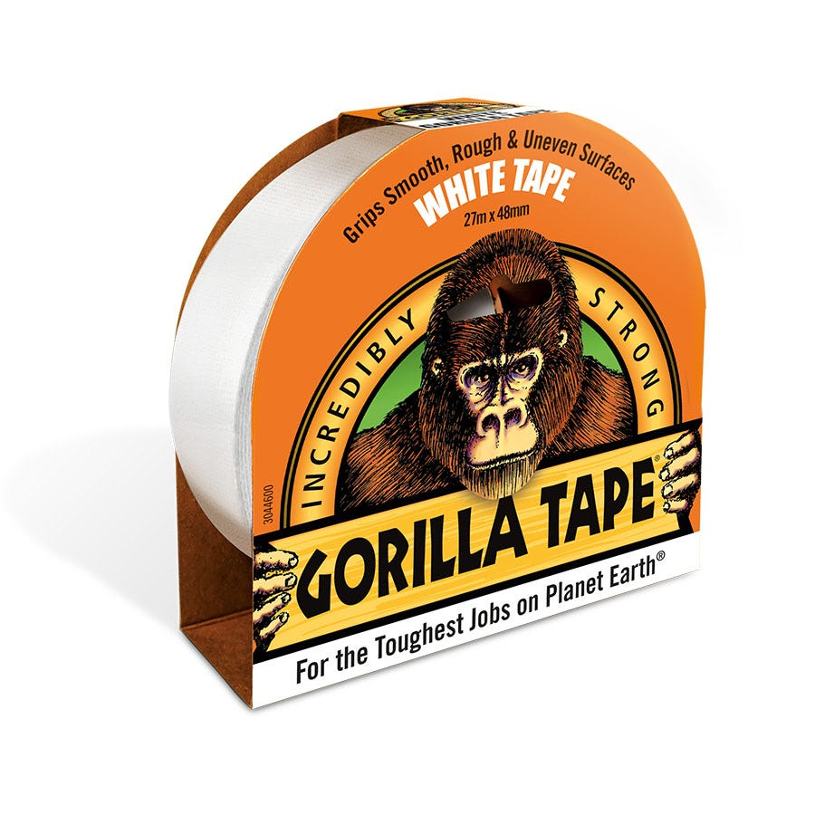 Compare prices for Gorilla Tape Reinforced Duct Tape - White - 27m Roll