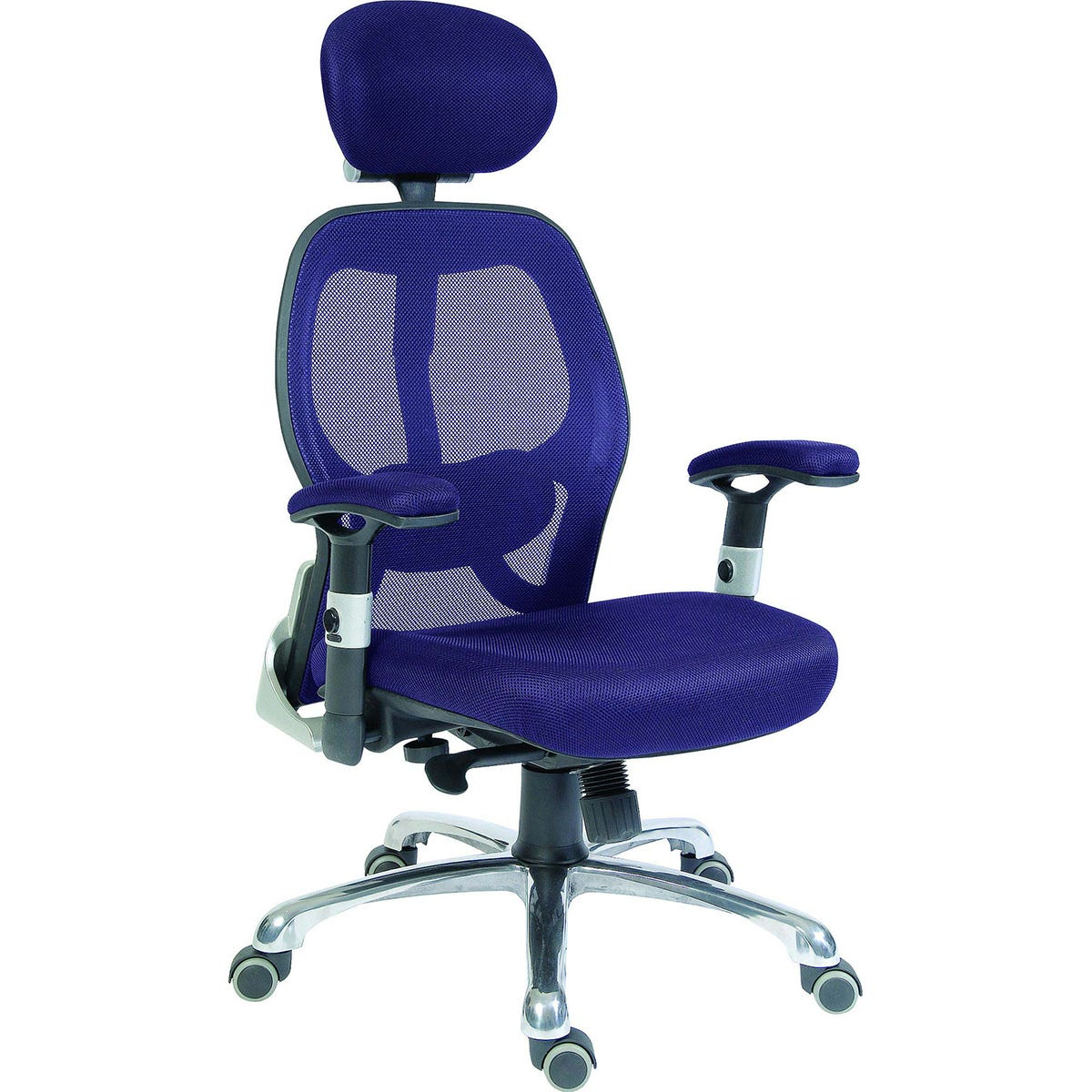 Teknik Cobham Luxury Mesh Back Executive Office Chair with Lumbar Support - Blue