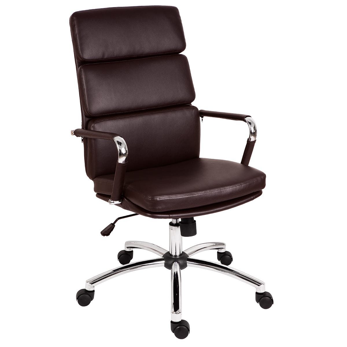 Teknik Deco Faux Leather Executive Office Chair - Brown