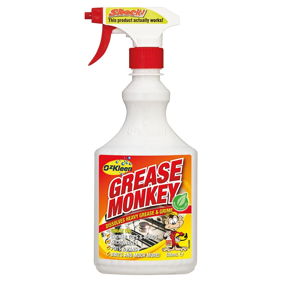 ozkleen 500ml grease monkey kitchen cleaner spray. Black Bedroom Furniture Sets. Home Design Ideas