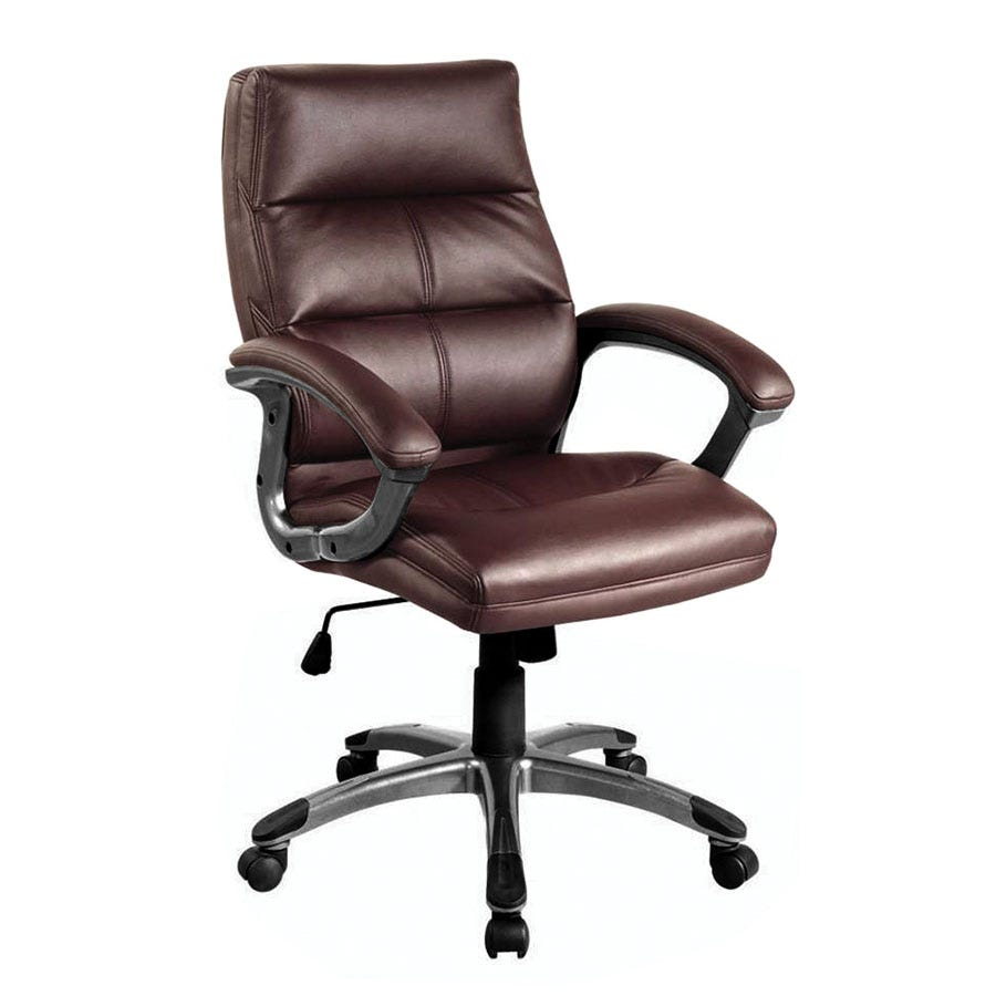 Compare prices for Eliza Tinsley Medium-Back Leather-Effect Executive Armchair - Burgundy