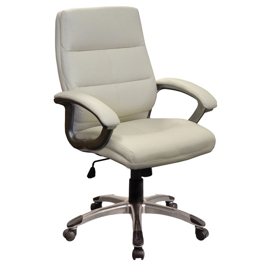 Compare prices for Eliza Tinsley Medium-Back Leather-Effect Executive Armchair - Cream