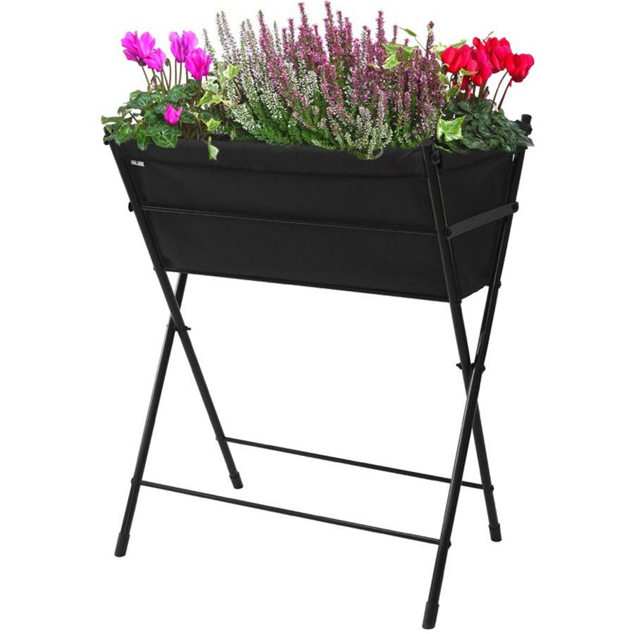 VegTrug Poppy Raised Planter - Black