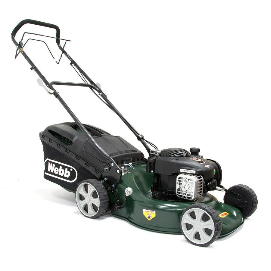 Compare prices for Webb R18SP Self-Propelled Steel Deck Rotary Petrol Mower
