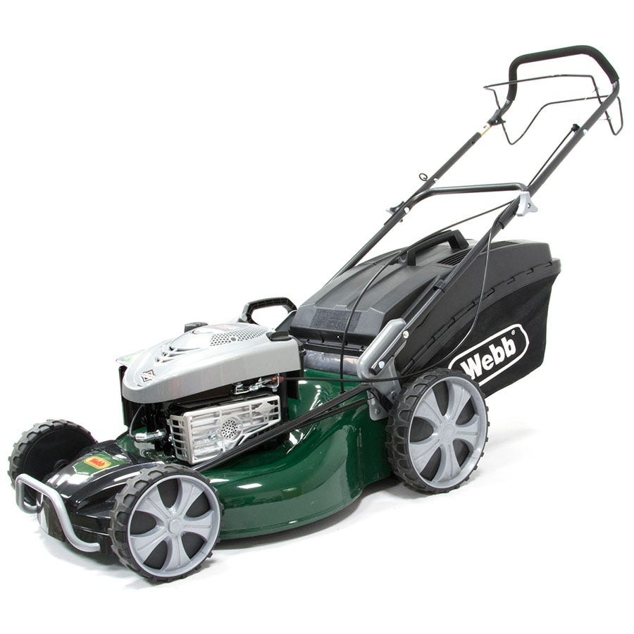 Compare prices for Webb R21HW 50cm Self-Propelled High-Wheel Rotary Petrol Mower