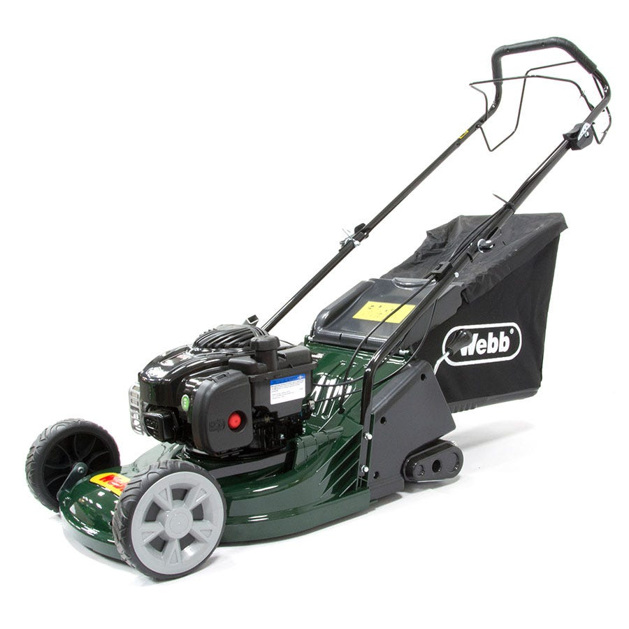Compare prices for Webb RR17SP 43cm Self-Propelled ABS-Deck Rear-Roller Rotary Petrol Mower