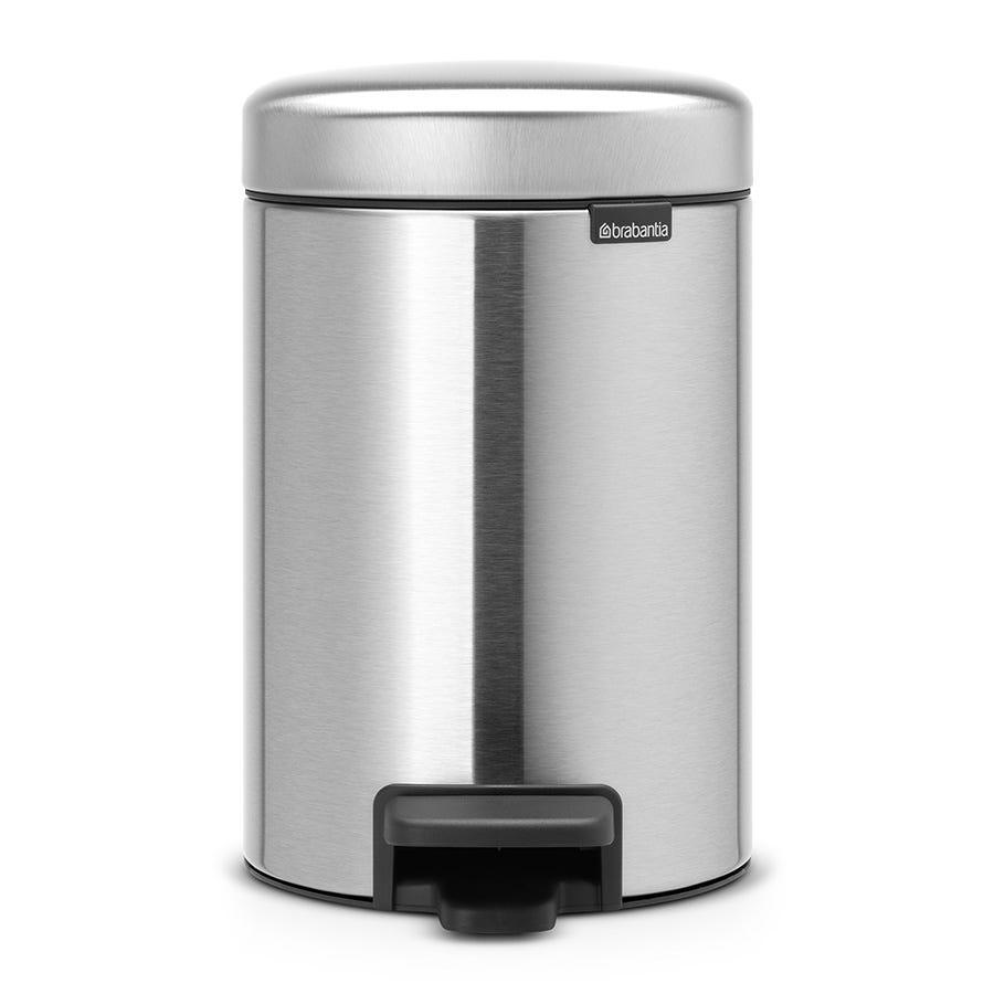 Compare retail prices of Brabantia 3 Litre New Icon Pedal Bin - Matt Steel to get the best deal online