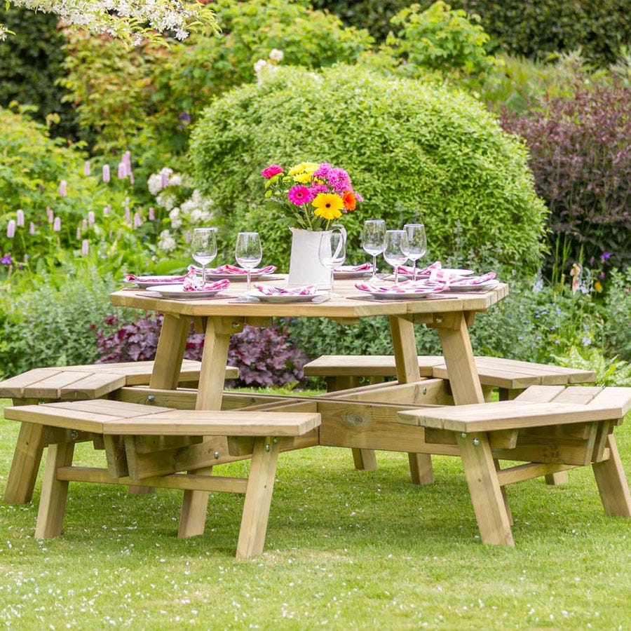 Compare prices for Zest4Leisure Alex Octagon Picnic Table
