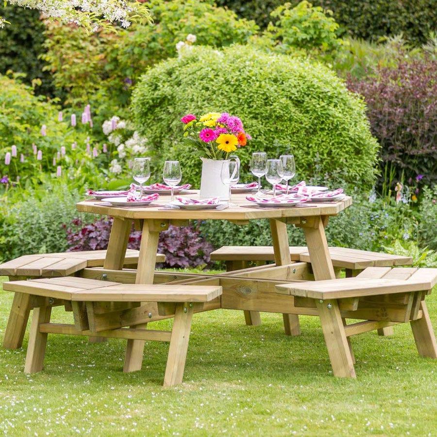 Zest4Leisure Alex Octagon Picnic Table