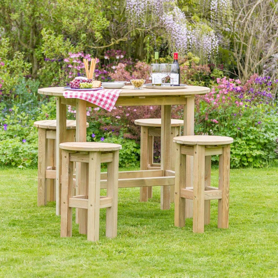 Compare prices for Zest4Leisure Bahama Oval Garden Table and 4 Stools