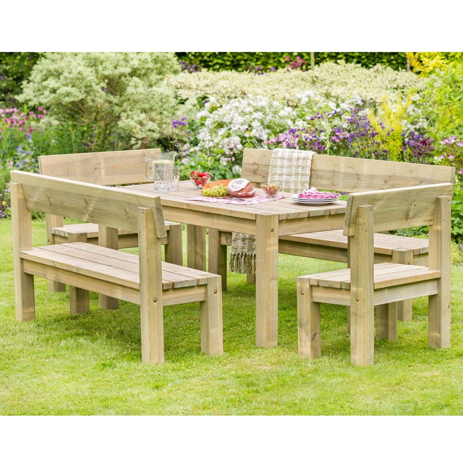 Zest4Leisure Philippa Table and Bench Garden Set