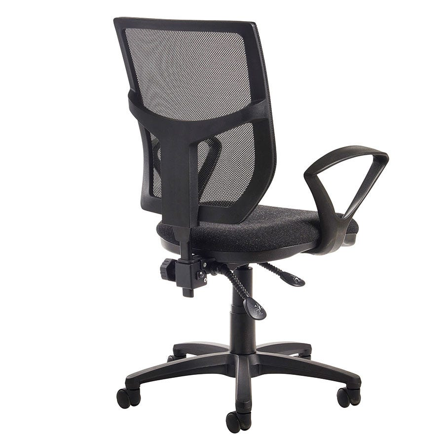 Compare prices for Dams Altino High Back Operator Chair with Fixed Armrests - Charcoal