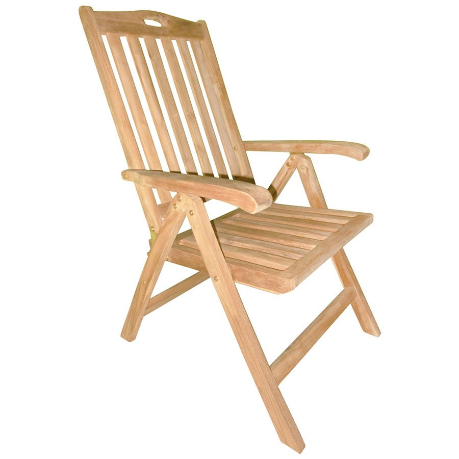 Compare cheap offers & prices of Charles Bentley Reclining Wooden Garden Chair manufactured by Charles Bentley