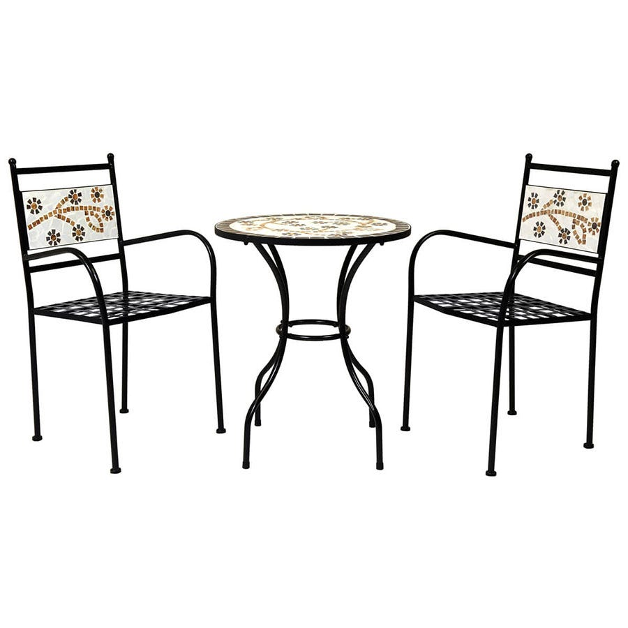 Compare cheap offers & prices of Charles Bentley 2-Seater Terracotta Flower Bistro Set manufactured by Charles Bentley