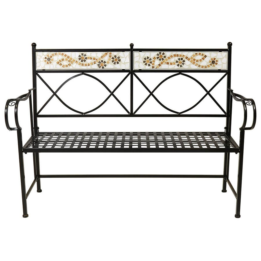 Compare cheap offers & prices of Charles Bentley 3-Seater Bench - Terracotta Flowers manufactured by Charles Bentley