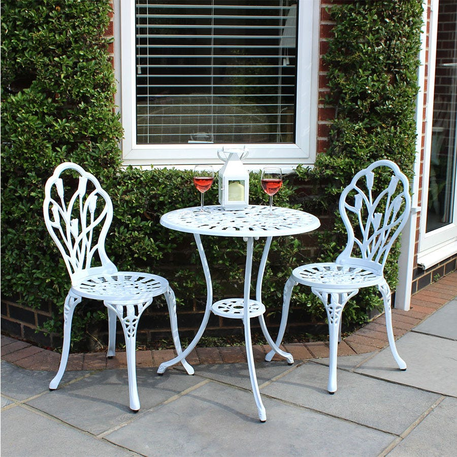 Compare cheap offers & prices of Charles Bentley 2-Seater Tulip Bistro Set manufactured by Charles Bentley