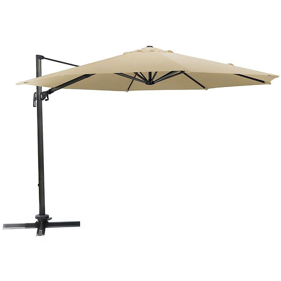 Harbo 3m Round Aluminium Cantilever Garden Parasol Beige
