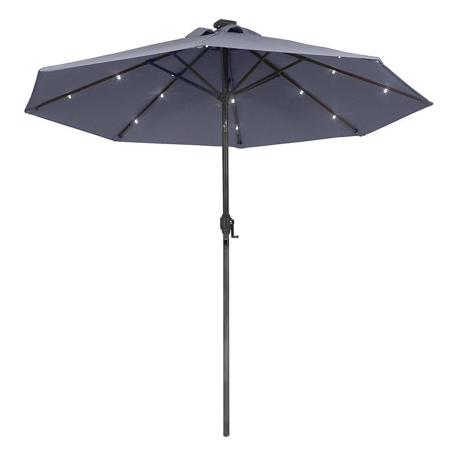 Charles Bentley LED Market Garden Parasol - Black