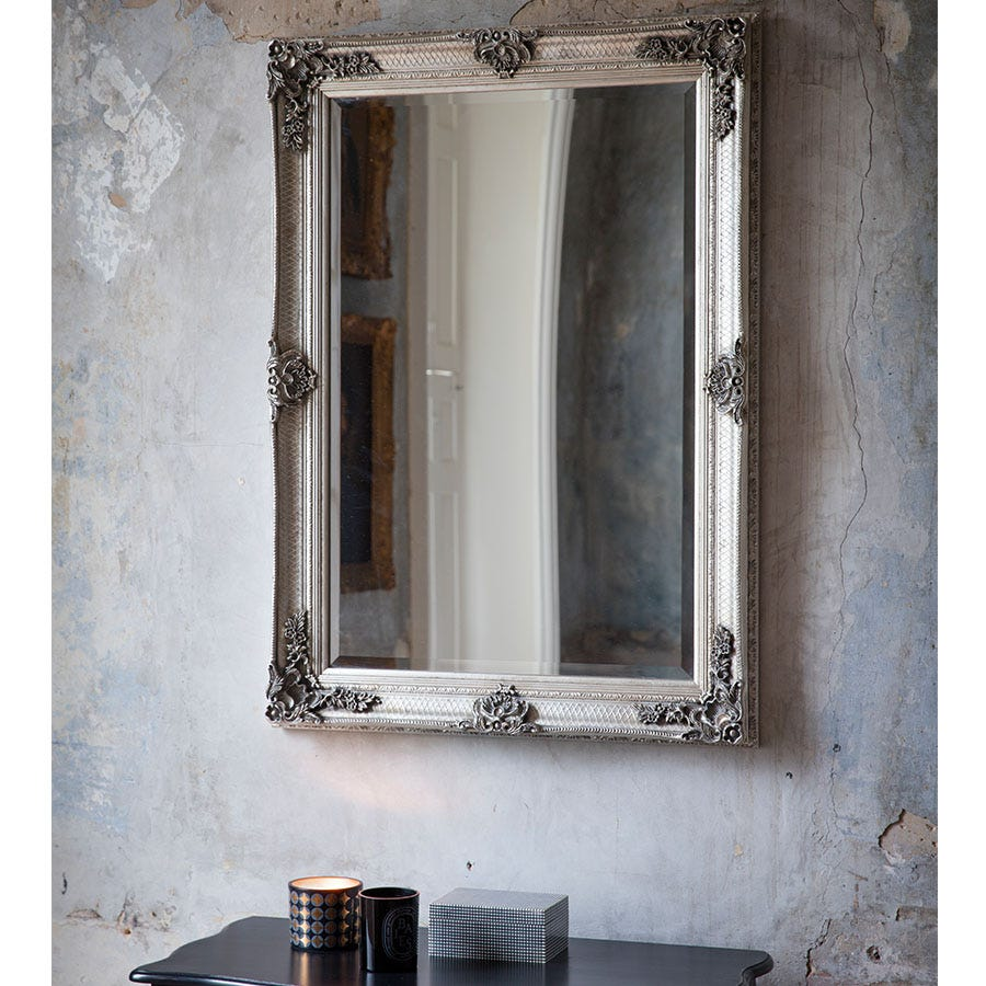 Compare prices for Gallery Abbey Rectangular Mirror - Silver