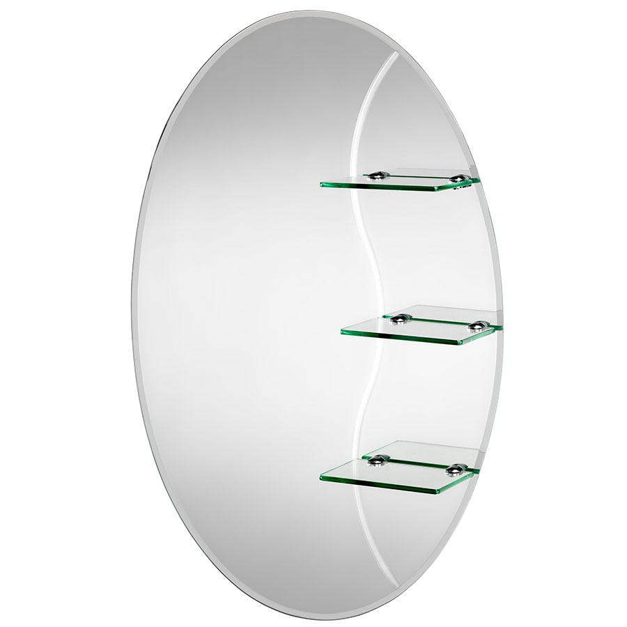 Compare prices for Croydex Coniston Oval Mirror with Shelves
