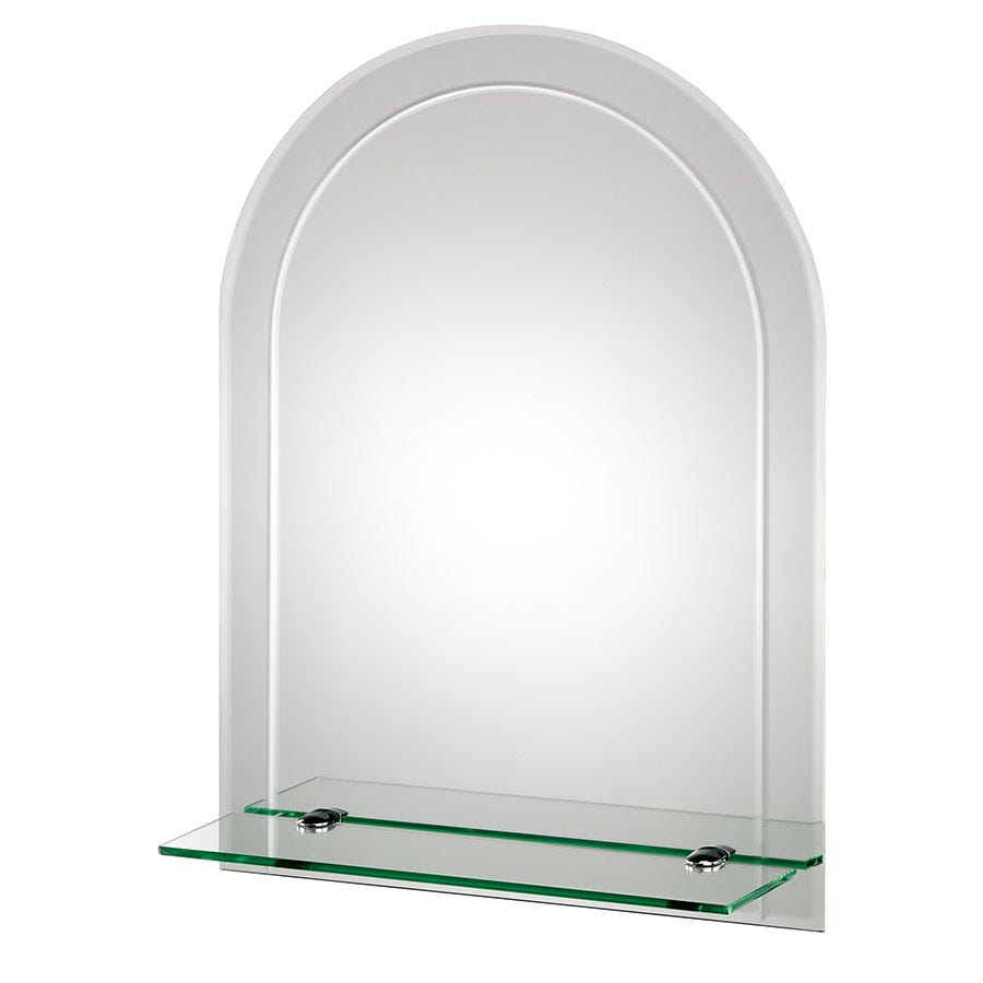 Compare prices for Croydex Fairfield Arch Mirror with Shelf