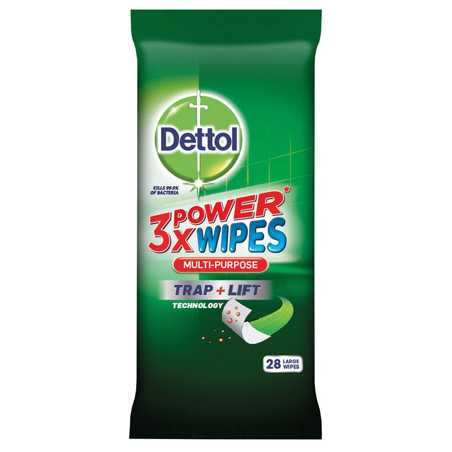 Compare prices for Dettol 3X Power Multi-Purpose Wipes - Pack of 28