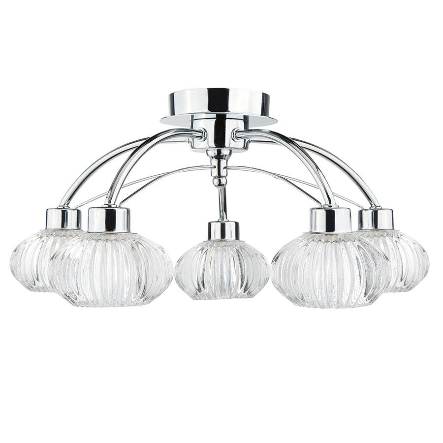 Compare prices for Searchlight Lighting Collection Anna 5-Light Semi-Flush Ceiling Light