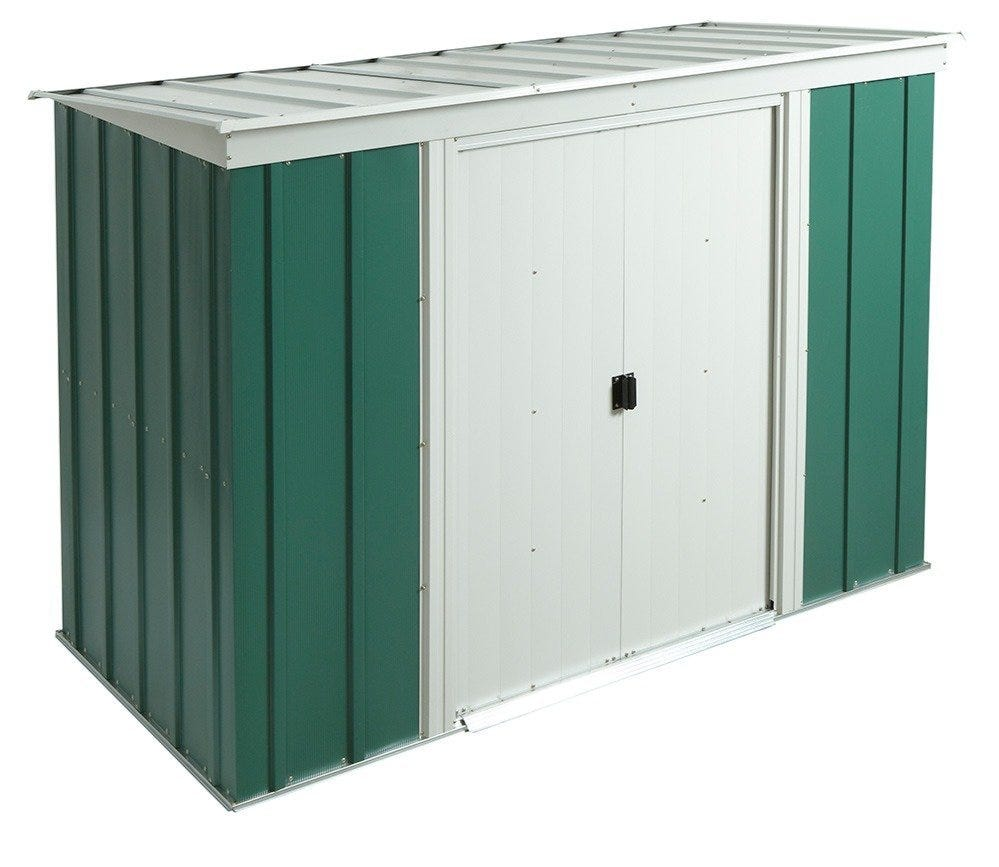 Rowlinson 8ft x 4ft Metal Pent Garden Shed