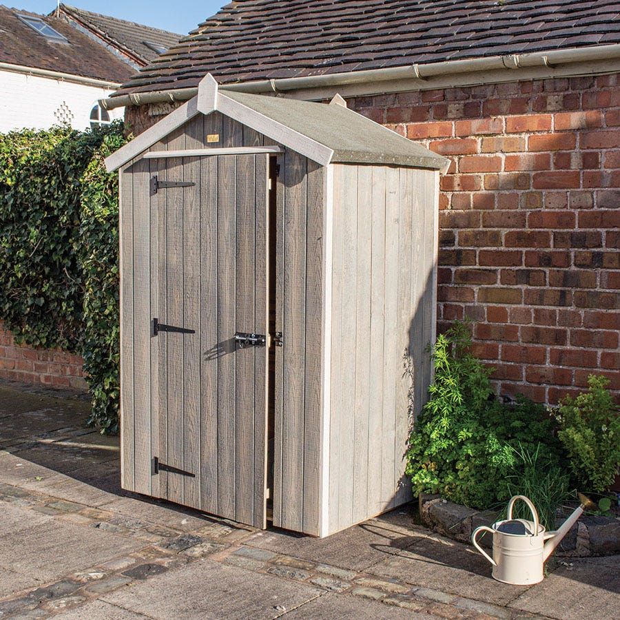 Rowlinson Heritage 4ft x 3ft Wooden Apex Garden Shed