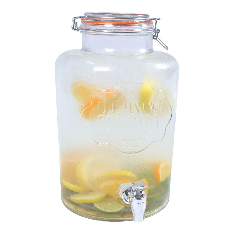 Compare prices for The Vintage Company 7.6L Airtight Glass Drinks Dispenser - Clear