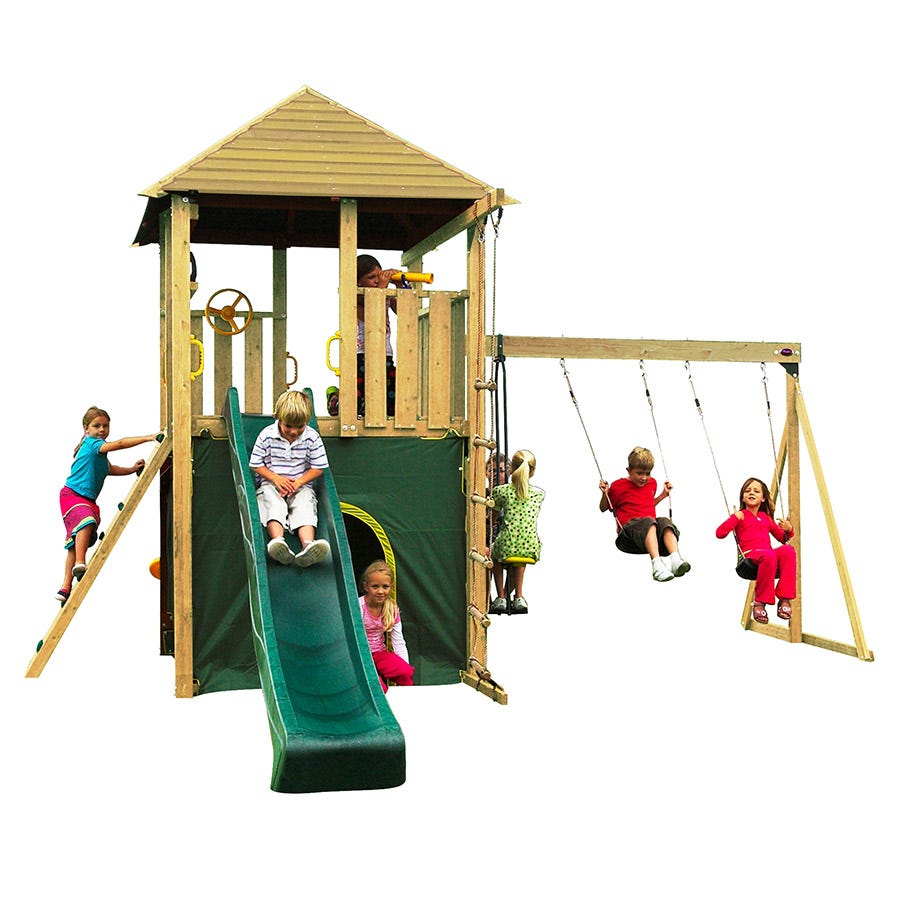 Image of Plum Warthog Children's Wooden Climbing Frame
