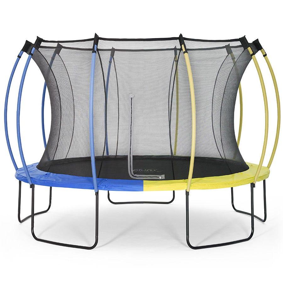 Plum Springsafe 12ft Trampoline & Enclosure - Snorkel Blue or Citrus Lime